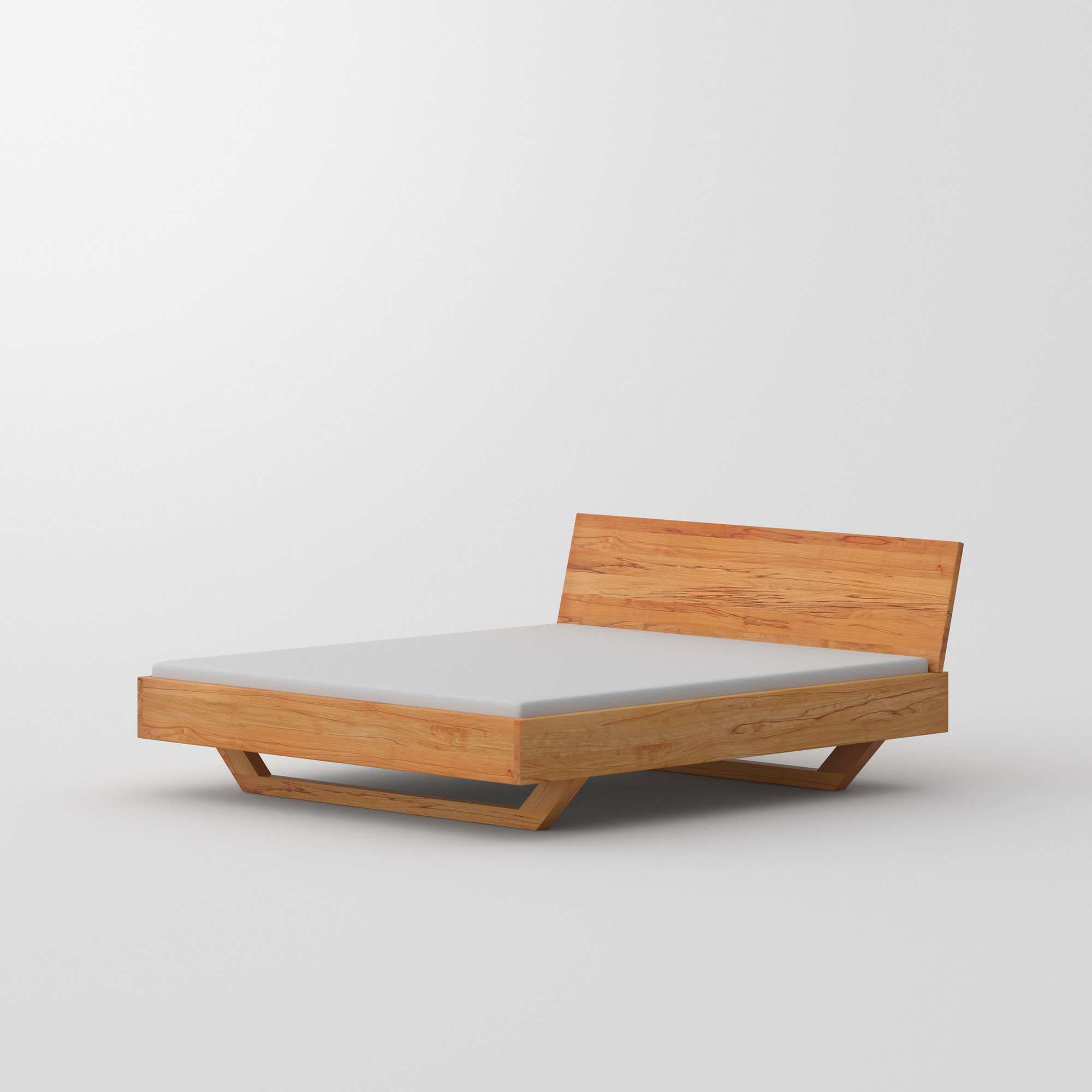 Solid Wooden Bed QUADRA SOFT custom made in solid wood by vitamin design
