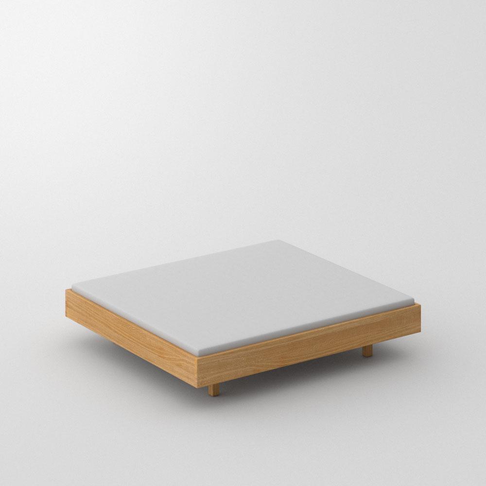 Abgerundete Ecken Massivholzbett Quadra Soft Frame Vitamin Design